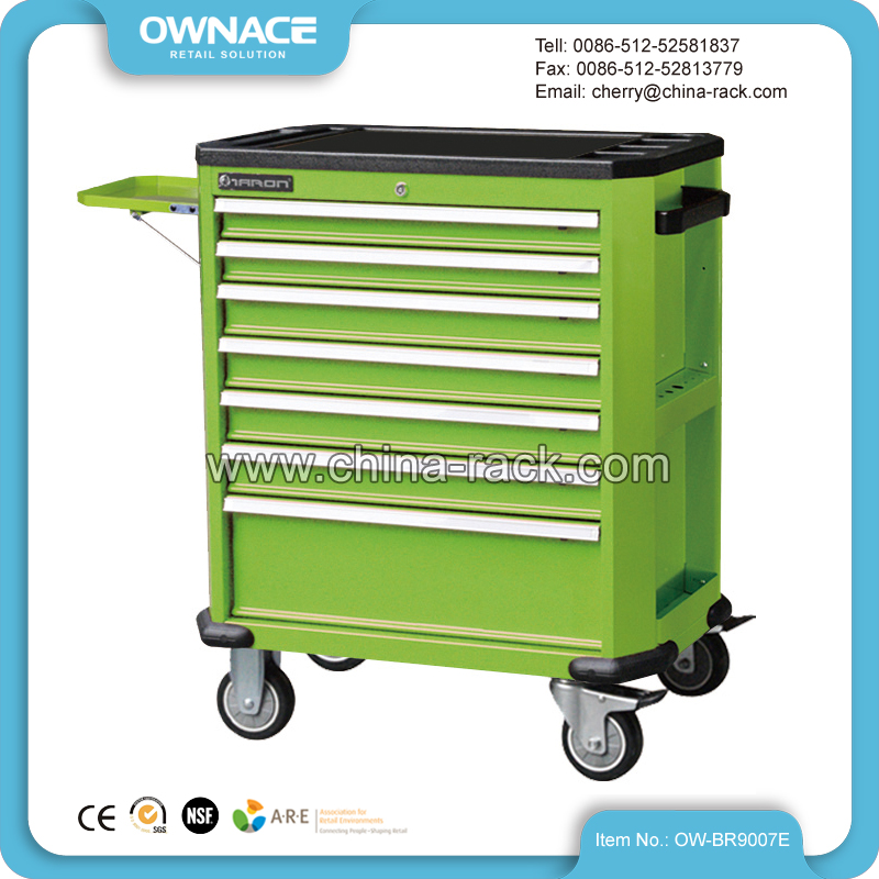OW-BR9007E Multi-layer Drawers Tool Trolley Cabinet