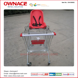 OW-BS002 Plastic Baby Seat for Shopping Trolley/Supermarket Shopping Cart Accessories