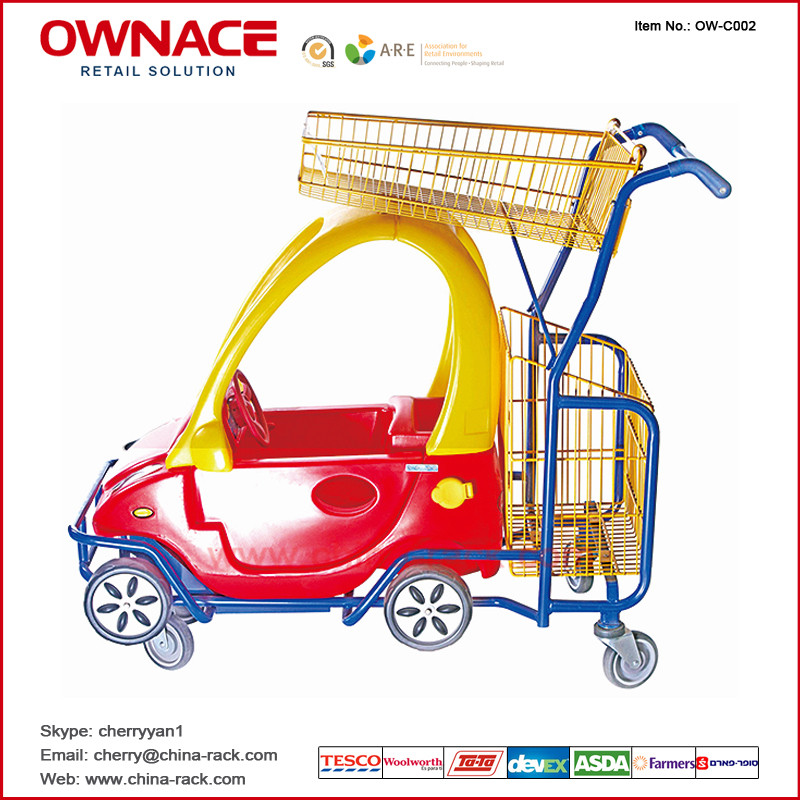OW-C002 Supermarket Shopping Basket Buggy Trolley/Cart for Children