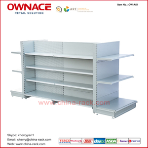OW-A01 European Shelf System Supermarket&Store Display Equipment/Metal Gondola Storage Shelf&Rack System