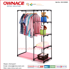 OW-CWS001 Non-woven Closet Wire Shelf, Modern Home Bedroom Furniture Cabinet